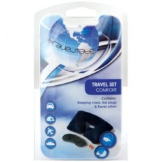 R30.00 Three piece travel set consisting of neck pillow, sleeping mask and earplugs